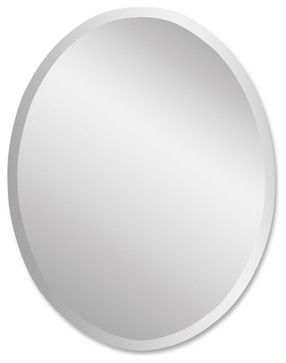 Frameless Large Oval Mirror -