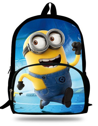 7745ad495197 16 inch Cartoon Children Boy Backpack Minions Bag Despicable Me Character School  Bags For Kids Mochila Escolar Menino