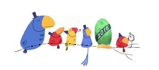 Godt nytår! #GoogleDoodle