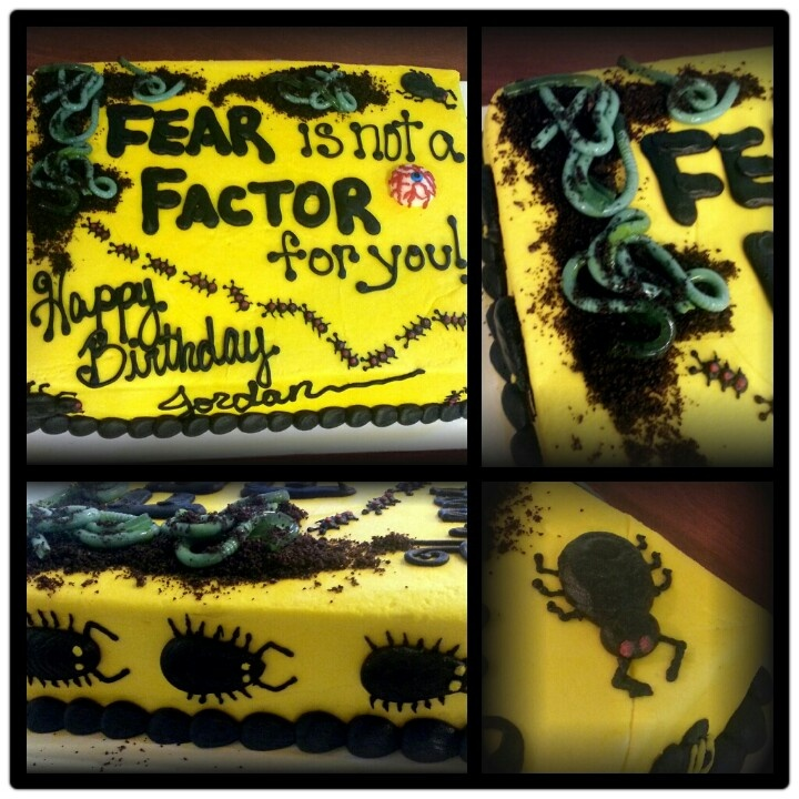 Fear factor cakeBirthday Parties, Factor Cake, 10Th Birthday, Factor Parties, Cake Decor, 12Th Birthday, Factor Birthday, Birthday Ideas, Avery'S Bday