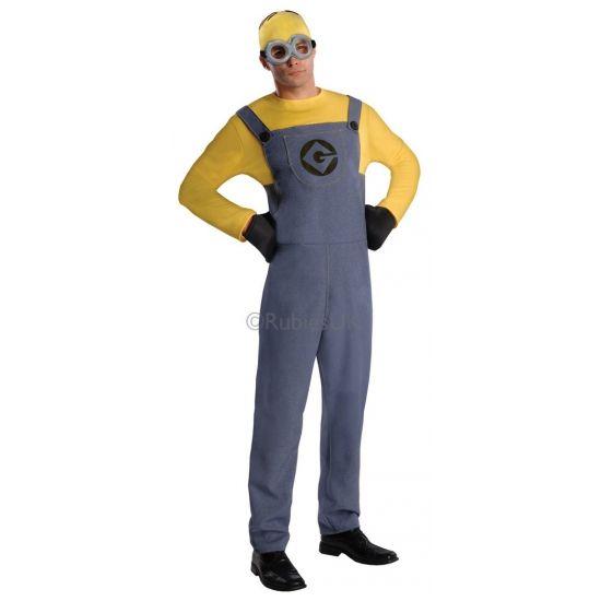 Despicable Me Minion kostuum voor heren. Ga verkleed als een Minion uit Verschrikkelijke Ikke! Dit te gekke complete kostuum is geschikt voor heren en valt ongeveer als maat M/L.