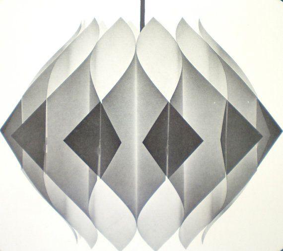 Vintage Pendant Light Shade Kit Mid Century Modern Lighting Danish Hanging Butterfly Lamp Shade