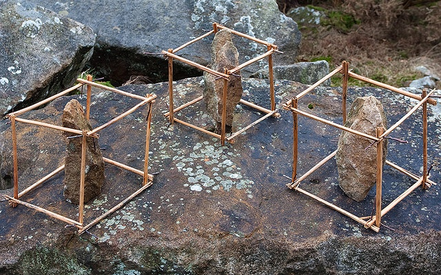 Caged RocksPhotos, Nature Art, Land Art, Cages Rocks