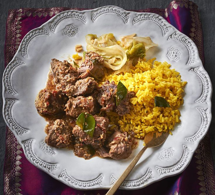 Cover beef shin in coconut milk and spices and add toasted desiccated coconut to thicken the rich sauce in this slow-cooked Malaysian favourite
