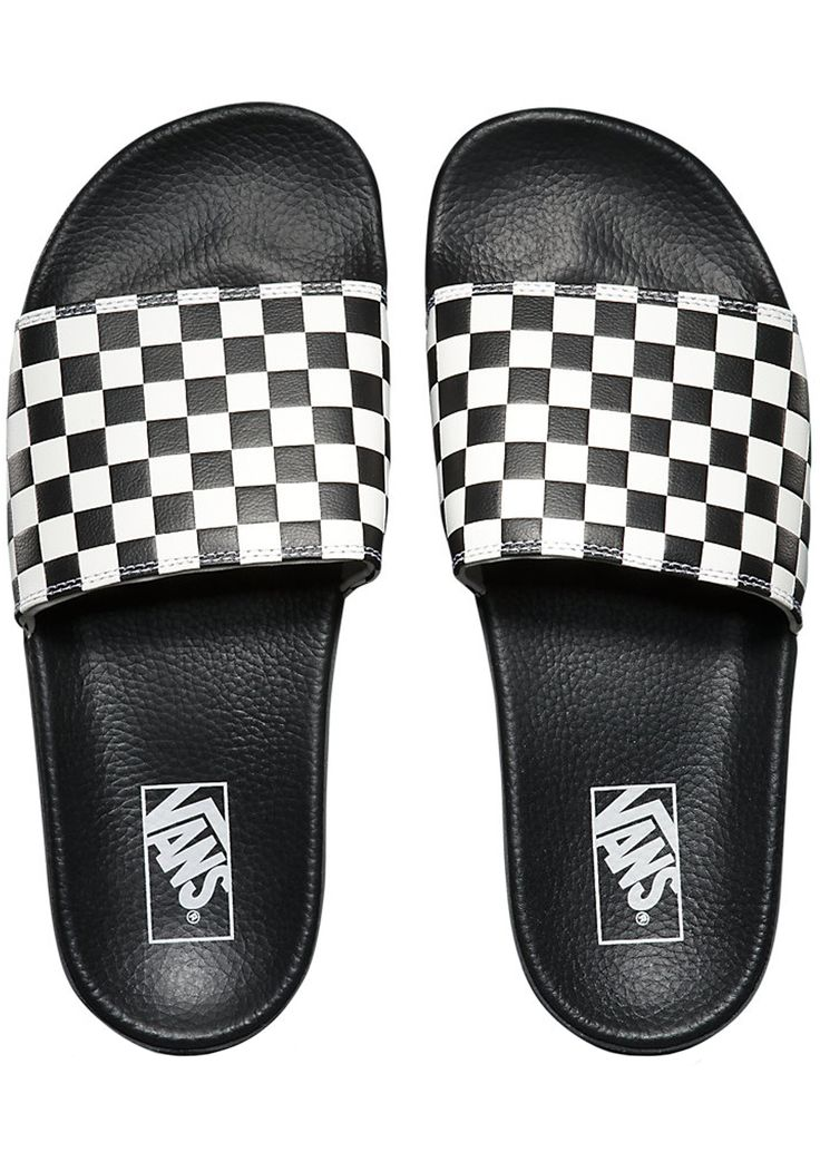 Shop Slide-On Checkerboard Sandal by Vans (#VN0004KIIP9) on Jack's  Surfboards