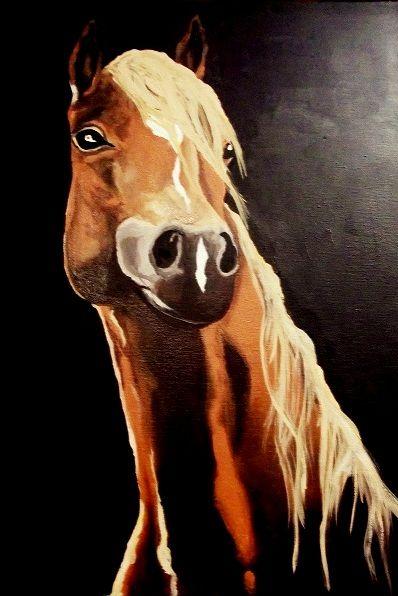 Kasztanek, koń, malarstwo