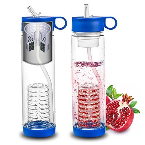 Filter Water Bottle – Fruit Infuser – Best Personal Outdoor Drink – Sports, Hiking, Camping, F... #deals