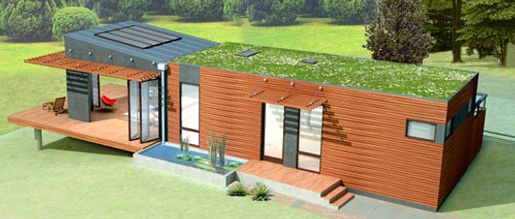 Great examples of the modern green pre-fab homes of the day. Function and style make these homes remarkable examples of living environmentally friendly.