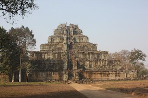 Prasat Thom at Koh Ker in Cambodia  Date: late 9th century, Reign: Jayavarman IV