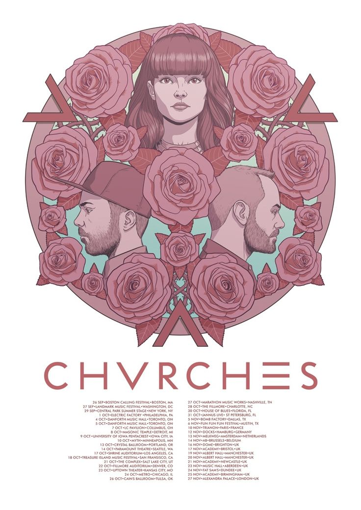 CHVRCHES.....MY FAVORITE FAVORITE!!! I love them!!!!!