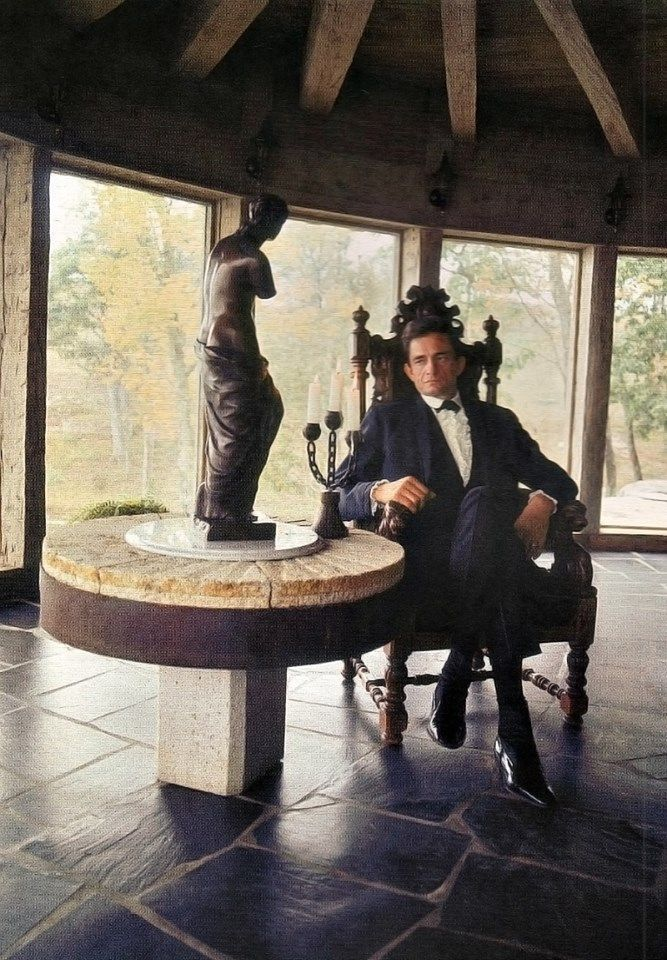 At his home in Hendersonville, Tennessee, Cumberland River, Old Hickory Lake