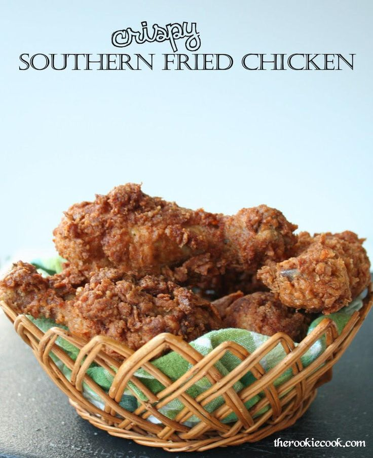 Crispy Southern Fried Chicken | This is the perfect recipe if you want to learn how to make fried chicken. It's easy to make and makes for a great Southern dinner recipe.