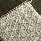 簡単な編み込み模様1 棒針の模様編みの編み図と編み地「編み物模様パターンカタログ」
