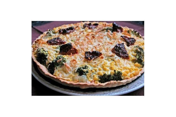 Broccoli Quiche with No Moo Classic cheese - Vegusto