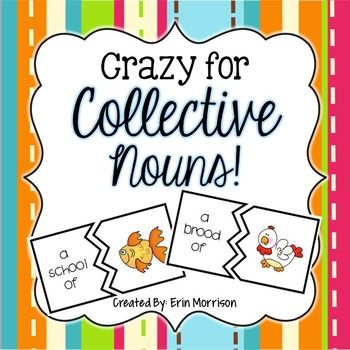 This unit includes fun and engaging activities to teach your students about collective nouns! Included in this packet are: *Collective Noun Definition Poster *ABC Class Book of Collective Nouns- this book contains 26 pages (1 for each letter) of collective nouns. (ex.