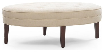 Terence Oval Ottoman - traditional - ottomans and cubes - Mitchell Gold + Bob Williams