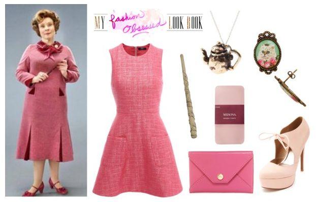 Dolores Unbridge Inspired DIY Look #harrypotter #doloresumbridge