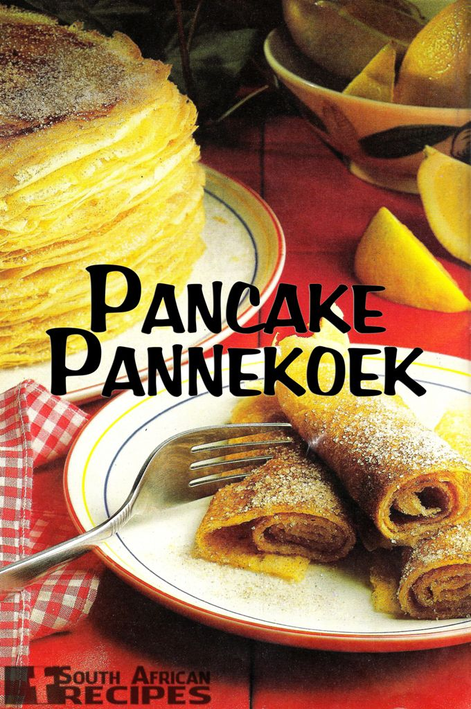 There is apparently a huge Dutch influence in South Africa. These pannekoek's are a traditional food! Who knew!