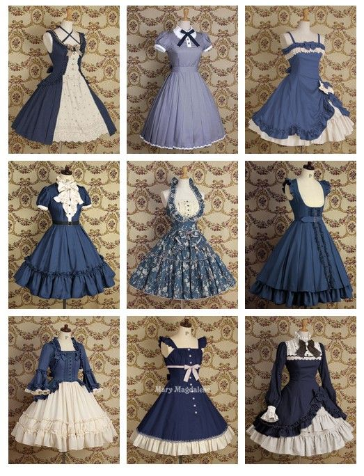 Cute blue lolita dresses