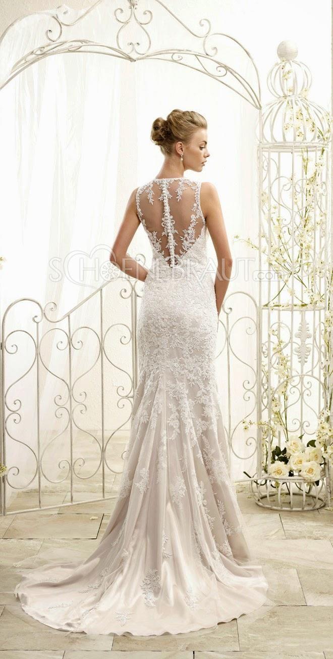 Elegant Brautkleider lang mit Spitze Meerjungfrau Hochzeitskleider