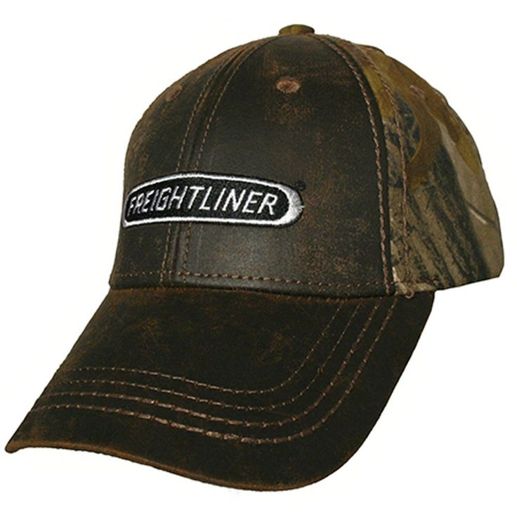 Freightliner Merchandise - Freightliner Faux-Leather Realtree Camouflage Caps…