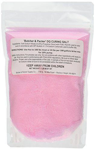 DQ Curing Salt #1 / Pink Salt / Instacure #1 / Prague Powder #1 -- 1 lb bag //Price: $8.75  //     #healthysnacks #groceries #groceryshopping #mealplanning
