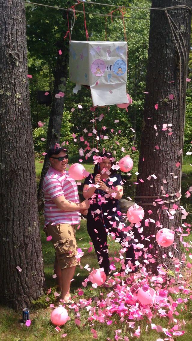 Gender reveal party. Team pink!