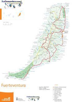 ontheworldmap.com spain islands fuerteventura fuerteventura-road-map.jpg