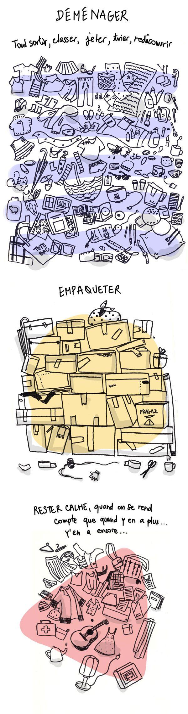 La team Gamelle. Artiste: Bananako. http://bananako.fr/blog/harder-better-faster-stronger/ Après le déménagement du blog, me voilà en train de faire des cartons pour de vrai. Mais comment se fait-il que j'ai autant d'objets que j'adoooore mais que j'utilise si peu! Les déménagements c'est bien, parce qu'à chaque fois ça me donne envie d'une vie moins matérialiste. (...) Quels sont les objets qu'elle adooooore?  Et vous, quels objets vous adorez?