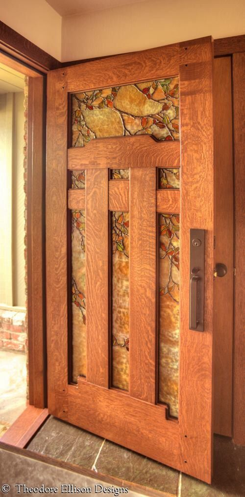17 best images about cabin front door on pinterest for Arts and crafts door