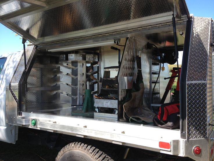 Truck Bed Slide Out Tool Box >> Inside of my rig | Truck tools, Truck tool box, Trucks