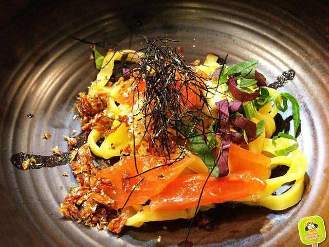YUJI RAMEN - 5 course ramen tasting - salmon and cheese Mazemen 2 by www.chubbychinesegirleats.com, via Flickr
