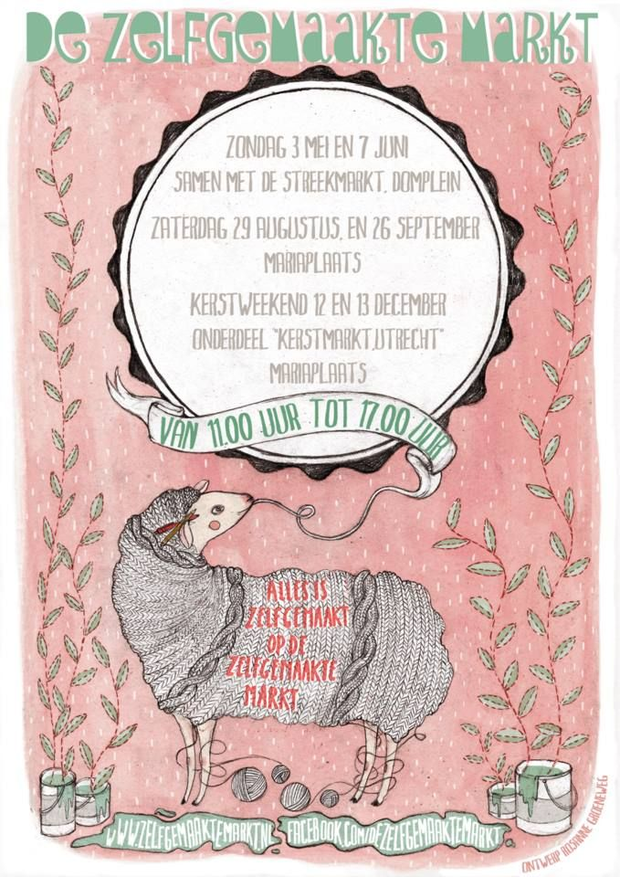 Zelfgemaakte Markt Poster, made by Rosanne Groeneweg