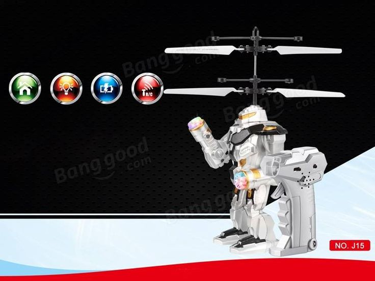 Remote Control RC Flying Gravity Sensing Robot Aircraft Toy Gift