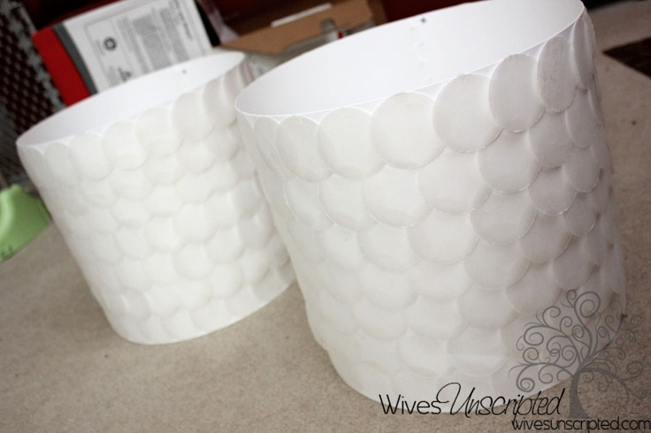 DIY Capiz Shell Lampshade