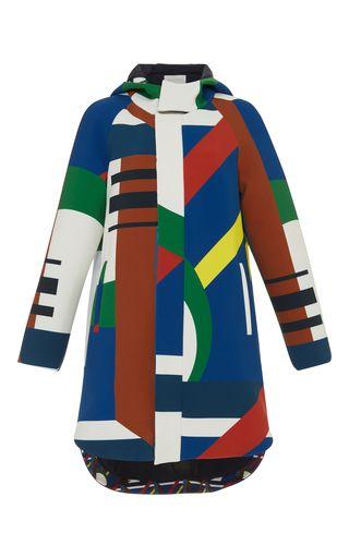 Medium parden s multi abstract ilanit hooded parka