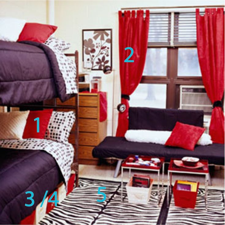 The Dos And Dont Of Decorating Your College Dorm Room I Also Like The Color Coordinating Of This Room