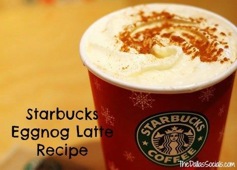 Starbucks eggnog latte Recipe