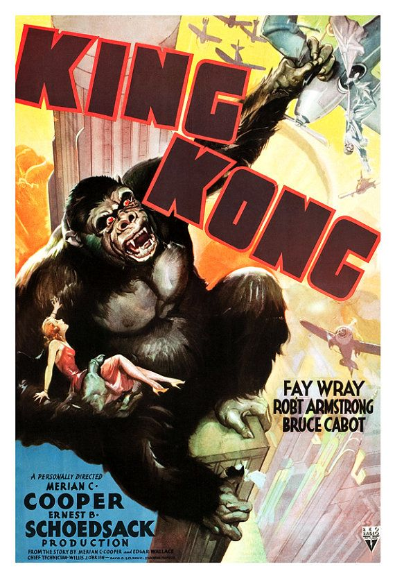 King+Kong++Classic+Horror+Adventure+Movie+Poster+by+jangoArts,+$19.50