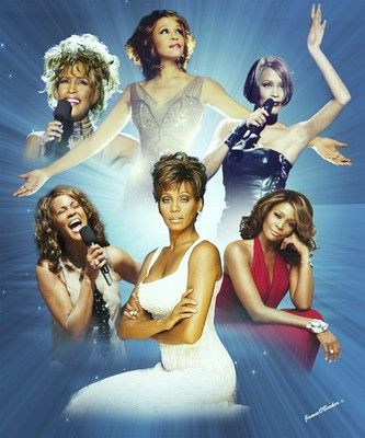 Whitney Houston Most Famous R&B Artist Wall Art Print on Archival Giclee