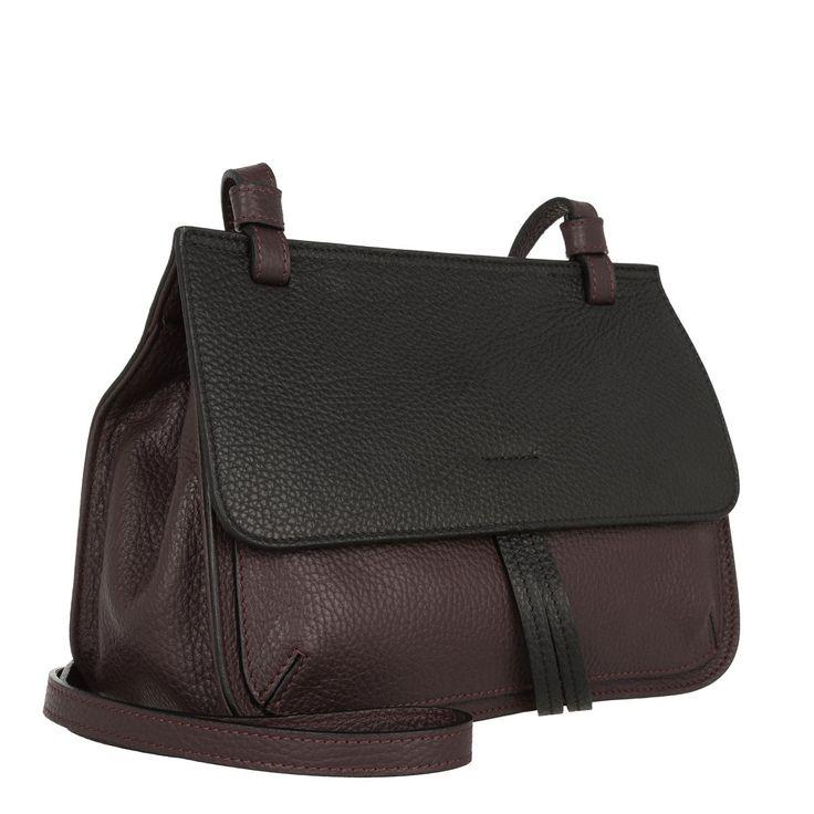Handtasche, Abro, Adria Bicolor Leather Crossbody Bag Burgundy/Black