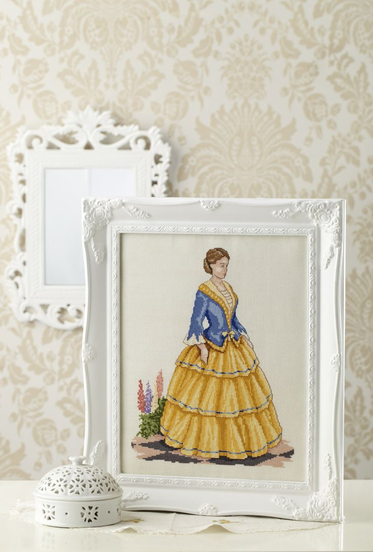 Cross stitch country crafts magazine back issues - Fashion History And Cross Stitch Combine To Make This Lovely Project From Sandy And Debs