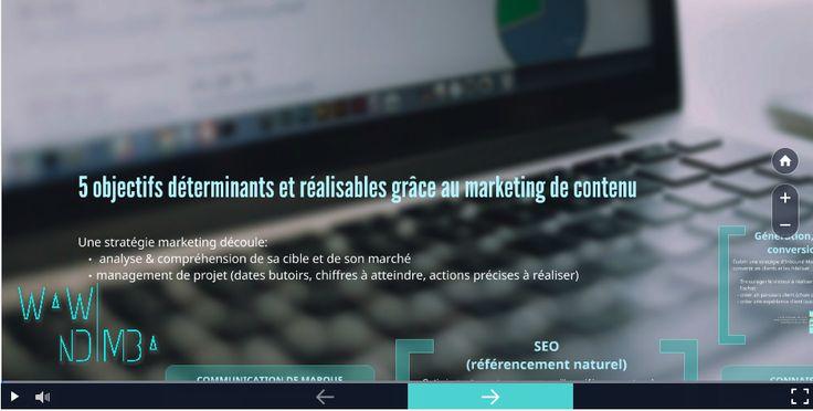 5 objectifs déterminants et réalisables grâce au marketing de contenu #webmarketing cc @VanessaLecosson
