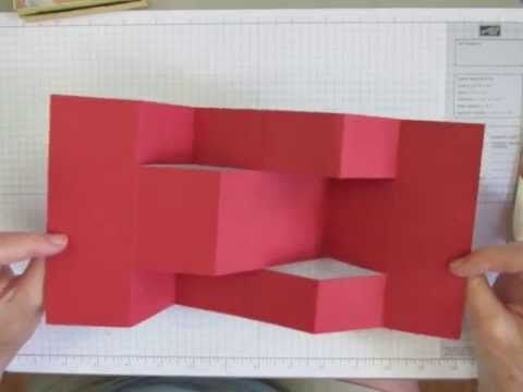card making video tutorial: How to Make a Trifold Shutter Card Base - YouTube