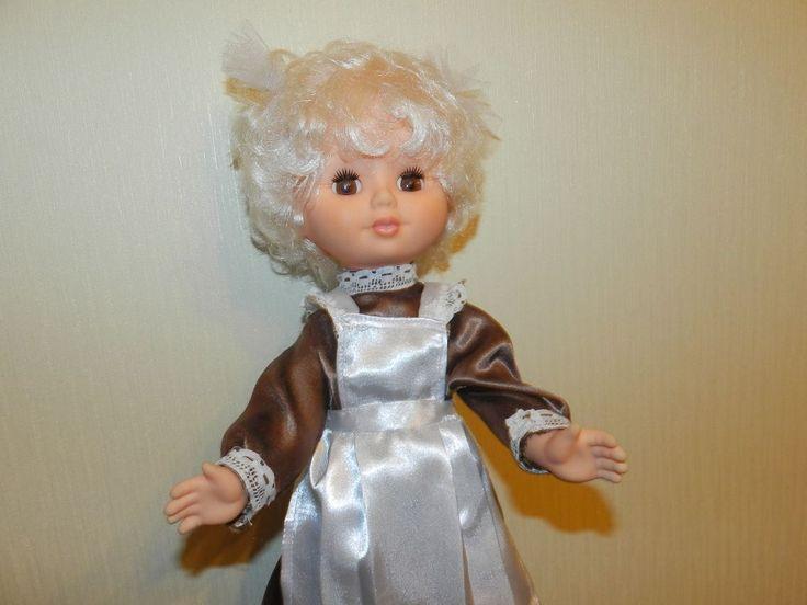 кукла СССР винтаж  сохран школа школьница  пластмасса одежда обувь  45 см Ленигрушка клеймо