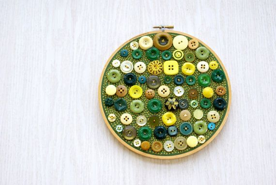 Upcycled Embroidery Hoop Art Textile And by BrandyCupcakesStudio, $95.00