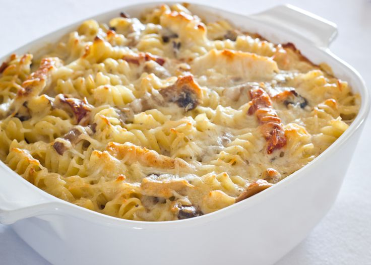 Baked Rotini with Chicken and Tomatoes - Click for Recipe