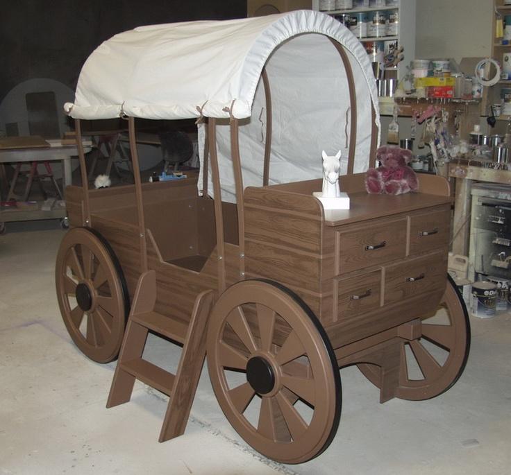 Wagon Bed Loft Bed Playhouses Pinterest Log