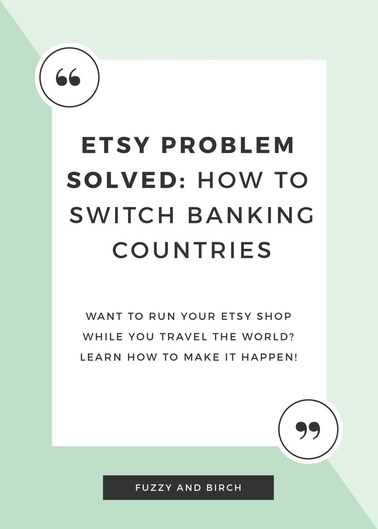If you've ever dreamt of being a digital nomad, and taking your job with you, Etsy seems like a pretty good idea. Right?? …You'd think, wouldn't you?? As it turns out, Etsy makes it pretty damn difficult to move your business to any given country. Today, I'm going to show you a WORK AROUND for all those world travelers out there…learn how to untie yourself from Etsy's banking country rules! Click to read more.