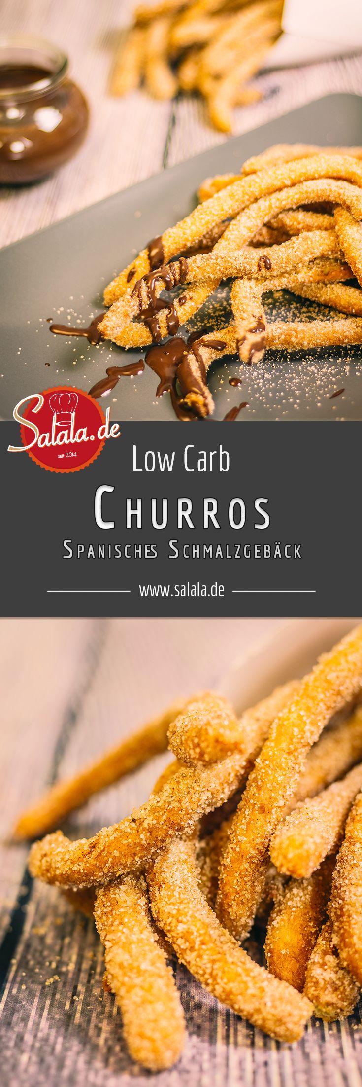 Churros Low Carb Rezept Spanisches Schmalzgebäck ohne Mehl und ohne Zucker aus Low Carb Brandteig mit extrem genialer Schokosoße. Die musst Du unbedingt nachmachen!
